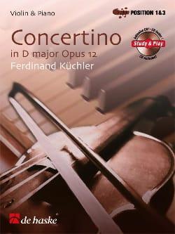 Ferdinand Küchler - Concertino en Ré majeur, Opus 12 - Partition - di-arezzo.fr