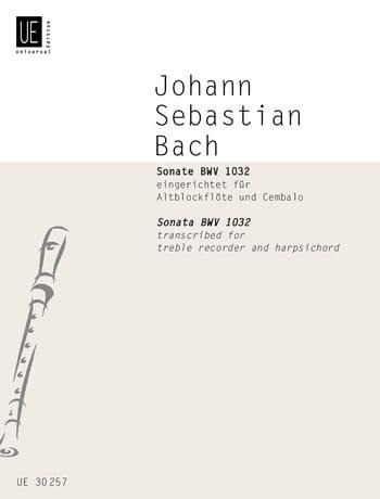 Sonate BWV 1032 - BACH - Partition - Flûte à bec - laflutedepan.com