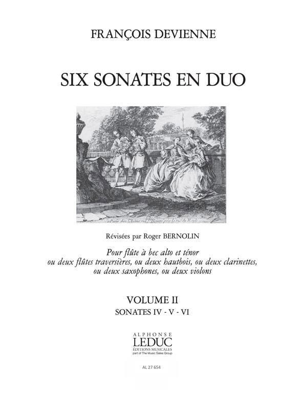 6 Sonates en duo Volume 2 - 2 Flûtes à bec - laflutedepan.com