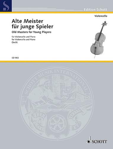 Alte Meister für junge Spieler - Cello - Percy Such - laflutedepan.com