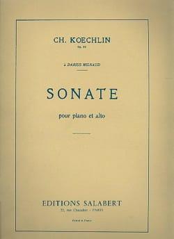 Sonate op. 53 - Alto et piano Charles Koechlin Partition laflutedepan