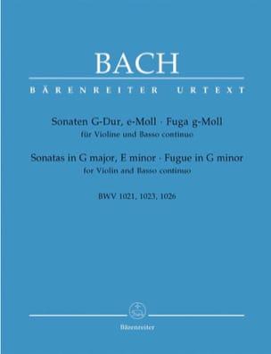 2 Sonates BWV 1021 et 1023, et Fugue BWV 1026 BACH laflutedepan
