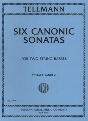 6 Canonic Sonatas - 2 Double basses TELEMANN Partition laflutedepan