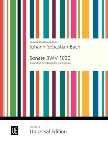 Sonate BWV 1030 - Altblockflöte u. Cemb. - BACH - laflutedepan.com