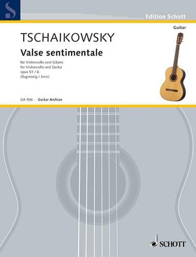 Valse sentimentale, op. 51 n° 6 - Cello guitare - laflutedepan.com