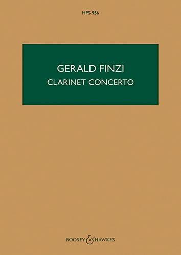 Concerto Pour Clarinette - Gerald Finzi - Partition - laflutedepan.com