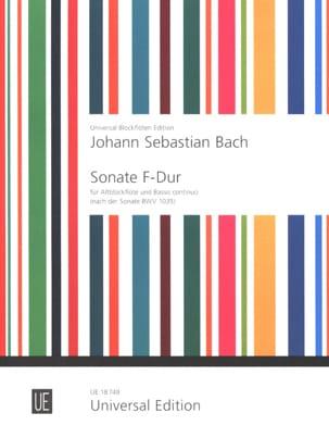 Sonate F-Dur für Altblockflöte und Basso continuo BACH laflutedepan