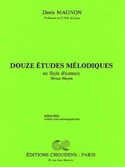 12 Etudes mélodiques - Moyen - Elève Denis Magnon laflutedepan