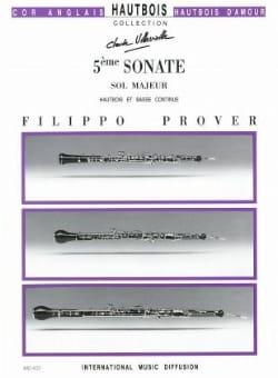 5e Sonate en sol majeur - Hautbois et basse continue laflutedepan