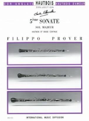 5e Sonate en sol majeur - Hautbois et basse continue - laflutedepan.com