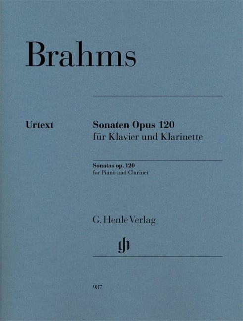 Sonates opus 120 - Clarinette et piano - BRAHMS - laflutedepan.be