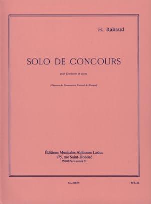Solo de Concours Op. 10 Henri Rabaud Partition laflutedepan