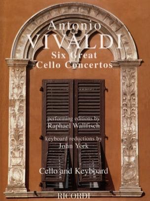 6 Grands concertos pour violoncelle VIVALDI Partition laflutedepan