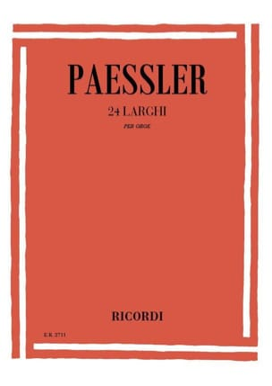24 Larghi per oboe Carlo Paessler Partition Hautbois - laflutedepan