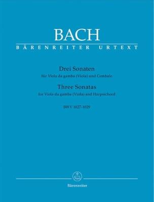 3 Sonaten für Viola da gamba Viola und Cembalo BWV 1027-1029 laflutedepan