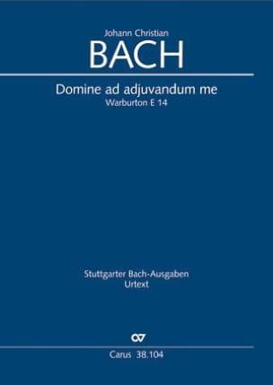 Domine ad adjuvandum me Johann Christian Bach Partition laflutedepan