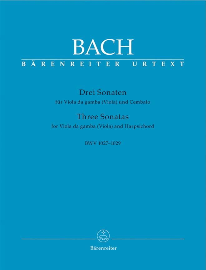 3 Sonaten für Viola da gamba Viola und Cembalo BWV 1027-1029 - laflutedepan.com