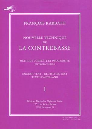 Nouvelle technique de contrebasse, Volume 1 laflutedepan