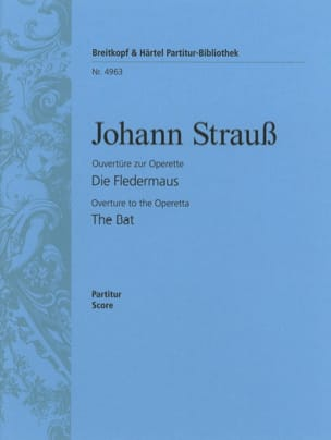 Die Fledermaus, Ouverture Johann Strauss Partition laflutedepan