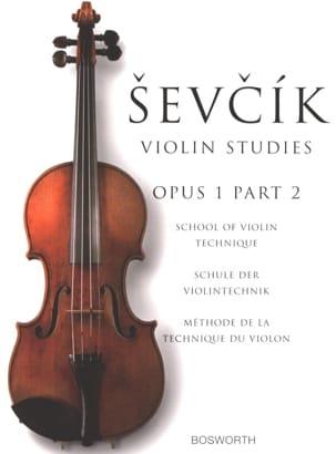 Etudes Opus 1 / Partie 2 - Violon Otakar Sevcik Partition laflutedepan