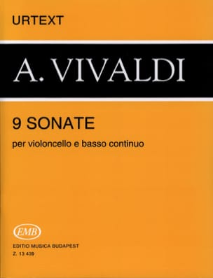 9 Sonates VIVALDI Partition Violoncelle - laflutedepan