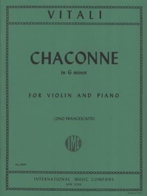 Chaconne in G minor Tommaso Antonio Vitali Partition laflutedepan