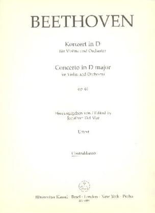 Concerto pour Violon en Ré Op. 61 - Matériel BEETHOVEN laflutedepan