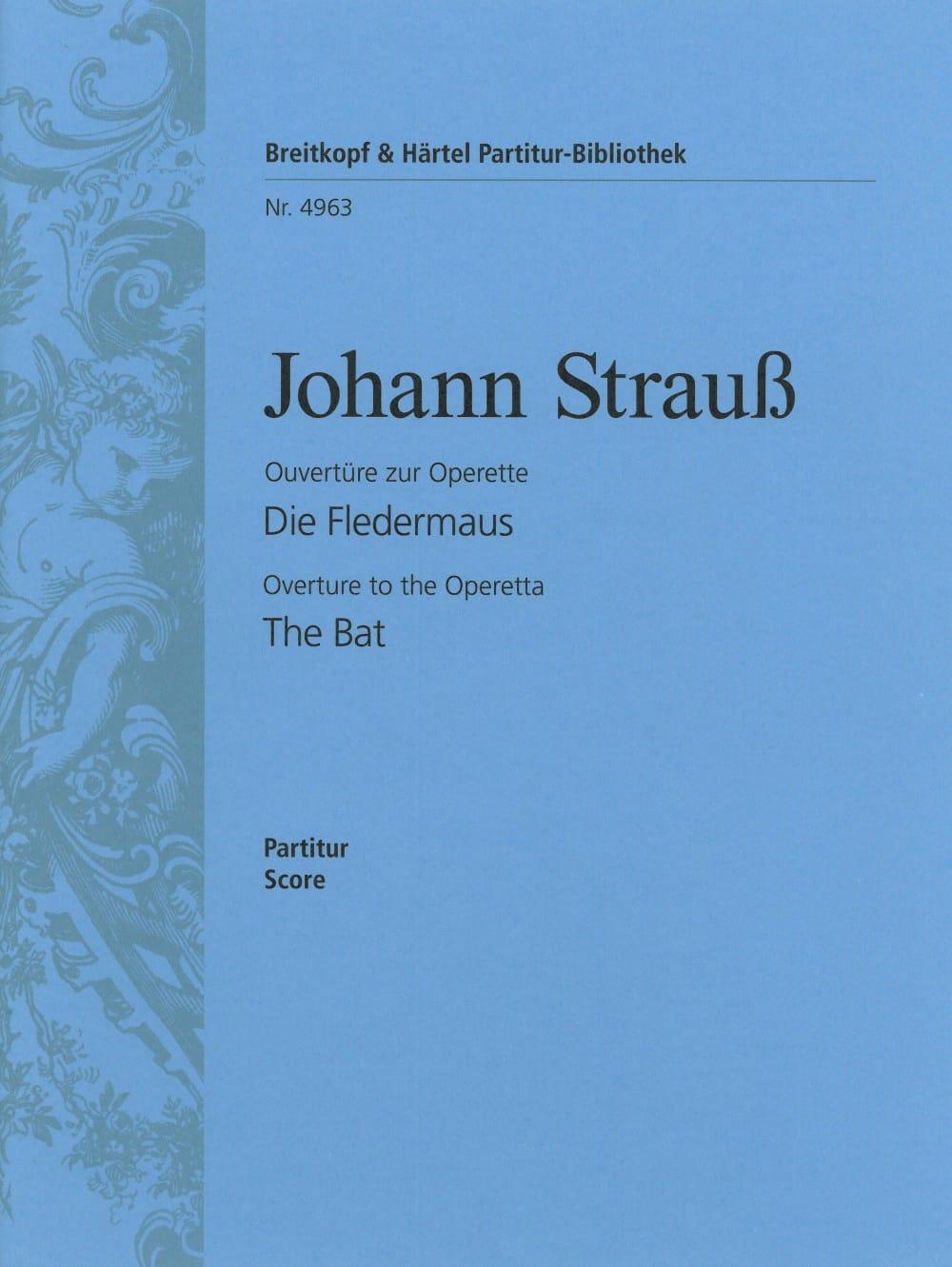 Die Fledermaus, Ouverture - Johann Strauss - laflutedepan.com