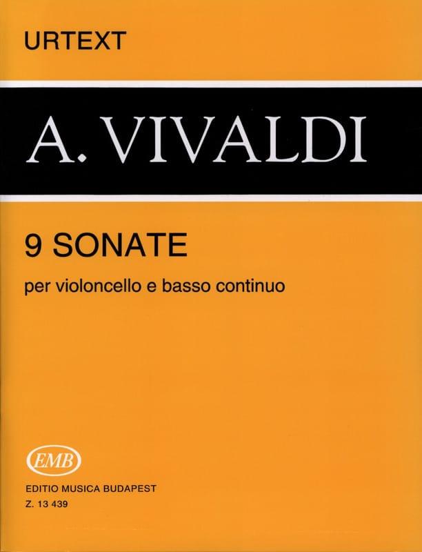 9 Sonates - VIVALDI - Partition - Violoncelle - laflutedepan.com
