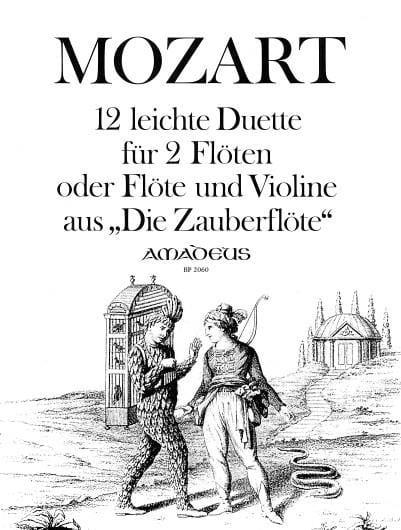 12 Leichte Duette aus Die Zauberflöte -2 Flöten o. Flöte u. Violine - laflutedepan.com