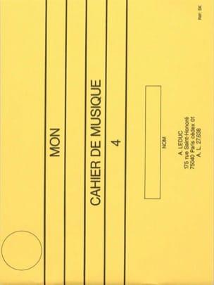 Mon cahier de musique n° 4 I.F.M. Serge Lecussant laflutedepan
