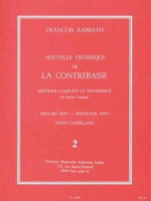 Nouvelle technique de contrebasse, Volume 2 laflutedepan