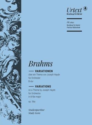 Haydn-Variationen op. 56a BRAHMS Partition Petit format - laflutedepan