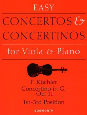 Concertino en Sol Opus 11 - Alto Ferdinand Küchler laflutedepan