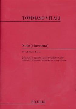 Solo Ciaccona - Tommaso Antonio Vitali - Partition - laflutedepan.com
