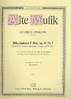 Bläserquintett F-Dur op. 81 Nr. 3 -Stimmen laflutedepan