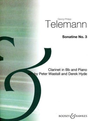 Sonatine n° 3 - Clarinette TELEMANN Partition laflutedepan