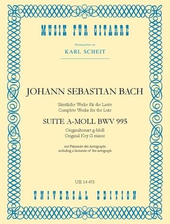 Suite a-moll BWV 995 -Gitarre - BACH - Partition - laflutedepan.com