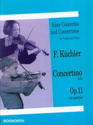 Concertino en Sol Op. 11 Ferdinand Küchler Partition laflutedepan