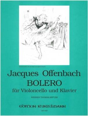 Bolero OFFENBACH Partition Violoncelle - laflutedepan