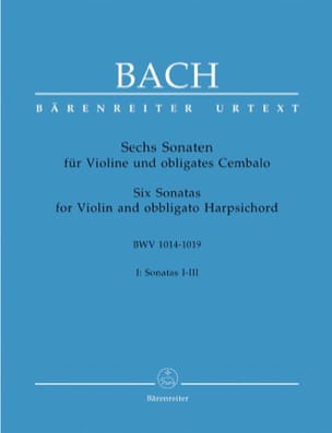 6 Sonaten BWV 1014-1019, Band 1 BACH Partition Violon - laflutedepan