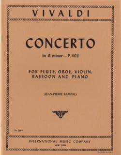 Concerto G minor P. 403 - Flute oboe violin bassoon piano laflutedepan