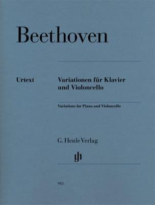 Variations Pour Violoncelle et Piano BEETHOVEN Partition laflutedepan