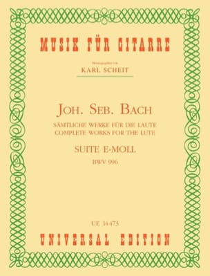 Suite E-Moll BWV 996 - Guitare - BACH - Partition - laflutedepan.com