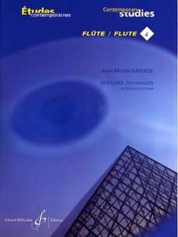 25 Etudes techniques - Flûte Jean-Michel Damase Partition laflutedepan
