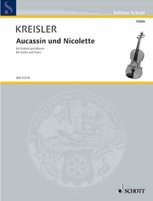 Aucassin et Nicolette KREISLER Partition Violon - laflutedepan