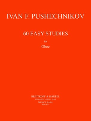 60 Easy Studies Pushechnikov Partition Hautbois - laflutedepan