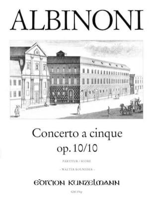 Concerto a cinque op. 10/10 - Conducteur - ALBINONI - laflutedepan.com