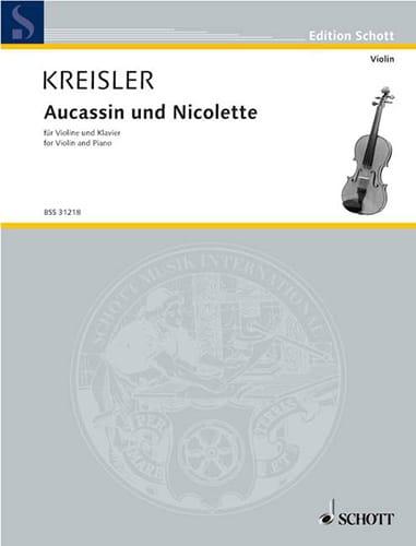 Aucassin et Nicolette - KREISLER - Partition - laflutedepan.com