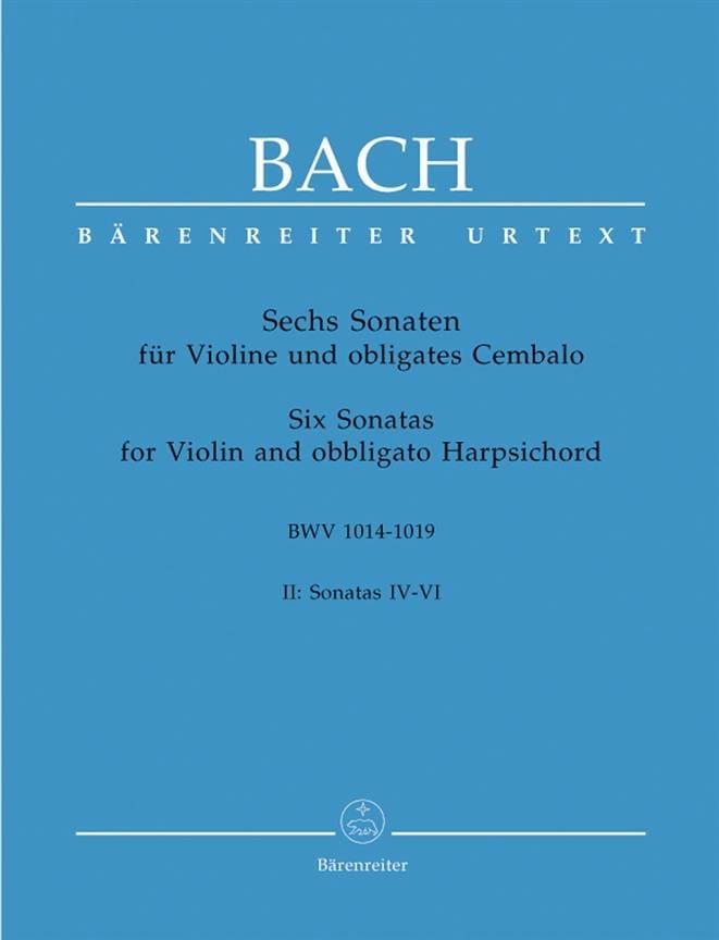 6 Sonaten BWV 1014-1019, Band 2 - BACH - Partition - laflutedepan.com